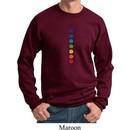 Mens Yoga Sweatshirt Glowing Chakras Sweat Shirt