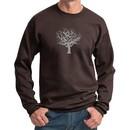 Mens Yoga Sweatshirt Grey Tree of Life Sweat Shirt