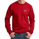 Mens Yoga Sweatshirt OM Heart Pocket Print Sweat Shirt