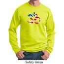 Mens Yoga Sweatshirt Patriotic Om Sweat Shirt