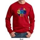 Mens Yoga Sweatshirt Pop Art Om Sweat Shirt