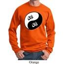 Mens Yoga Sweatshirt Yin Yang AUM Sweat Shirt
