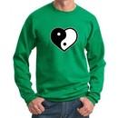 Mens Yoga Sweatshirt Yin Yang Heart Sweat Shirt