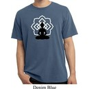 Mens Yoga Tee Buddha Lotus Pose Pigment Dyed T-shirt