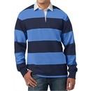 Mens Premium Long Sleeve Rugby Polo Shirt