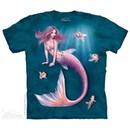 Mermaid Shirt Tie Dye Adult T-Shirt Tee