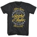 Mike Tyson Shirt Hooks & Jabs Charcoal T-Shirt