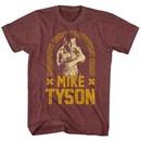 Mike Tyson Shirt Undefeated World Heavyweight Champ Maroon Heather T-Shirt