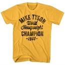 Mike Tyson Shirt World Champion 1988 Gold T-Shirt