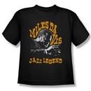 Miles Davis Kids Shirt Jazz Legends Black Youth Tee T-Shirt