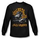 Miles Davis Shirt Jazz Legends Long Sleeve Black Tee T-Shirt