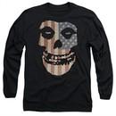 Misfits Long Sleeve Shirt Fiend Flag 2 Black Tee T-Shirt