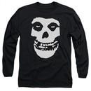Misfits Long Sleeve Shirt Fiend Skull Black Tee T-Shirt