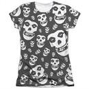 Misfits Shirt Fiends All Over Poly/Cotton Sublimation Juniors T-Shirt
