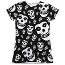 Misfits Shirt Fiends All Over Sublimation Juniors T-Shirt Front/Back Print