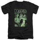 Misfits Slim Fit V-Neck Shirt The Return Black T-Shirt