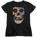 Misfits Womens Shirt Fiend Flag 2 Black T-Shirt