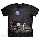 Moon Landing Shirt Tie Dye Adult T-Shirt Tee