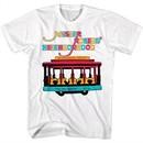 Mr. Mister Rogers Shirt Neighborhood Trolley White T-Shirt