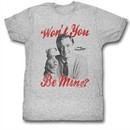 Mr. Mister Rogers Shirt Won't You Be Mine Athletic Heather T-Shirt
