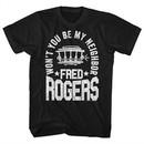 Mr. Mister Rogers Shirt Won't You Be My Neighbor Black T-Shirt