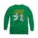 Mr Peabody & Sherman Shirt Long Sleeve Deep Conversation Kelly Green Tee T-Shirt