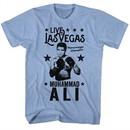 Muhammad Ali Shirt Live In Vegas Light Blue T-Shirt