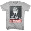Muhammad Ali Shirt Over Liston Athletic Heather T-Shirt
