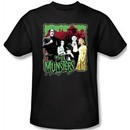 The Munsters T-shirt Normal Family Adult Black Tee Shirt