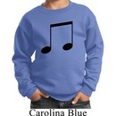 Music 8th Note Kids Sweatshirt