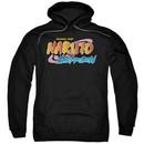 Naruto Shippuden Hoodie Logo Black Sweatshirt Hoody