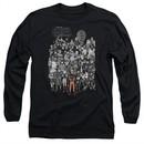 Naruto Shippuden Long Sleeve Shirt Characters Black Tee T-Shirt