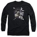 Naruto Shippuden Long Sleeve Shirt Leaves Headband Black Tee T-Shirt
