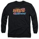 Naruto Shippuden Long Sleeve Shirt Logo Black Tee T-Shirt