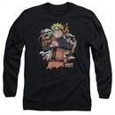 Naruto Shippuden Long Sleeve Shirt Shadow Clone Black Tee T-Shirt