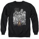 Naruto Shippuden Sweatshirt Characters Adult Black Sweat Shirt