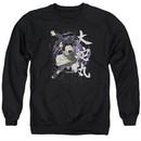 Naruto Shippuden Sweatshirt Leaves Headband Adult Black Sweat Shirt