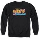 Naruto Shippuden Sweatshirt Logo Adult Black Sweat Shirt