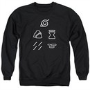 Naruto Shippuden Sweatshirt Village Symbols Adult Black Sweat Shirt