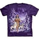 Native American Shirt Tie Dye Wolf Eyes Spirit T-shirt Adult Tee
