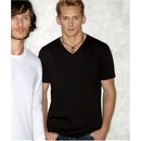 Next Level Men?s T-Shirt V-Neck Fitted Cotton Tee Shirt