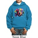 Neon Golden Retriever Kids Hoody