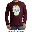 Neon Sugar Skull Kids Long Sleeve Shirt