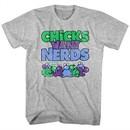 Nerds Candy Shirt Chicks Want Nerds Athletic Heather T-Shirt