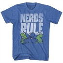 Nerds Candy Shirt Nerds Rule Heather Blue T-Shirt