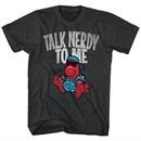 Nerds Candy Shirt Talk Nerdy To Me Heather Black T-Shirt