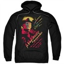 Nightmare On Elm Street Hoodie Freddy Claws Black Sweatshirt Hoody