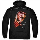 Nightmare On Elm Street Hoodie Freddy's Face Black Sweatshirt Hoody