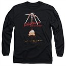 Nightmare On Elm Street Long Sleeve Shirt Alternate Poster Black Tee T-Shirt