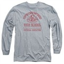 Nightmare On Elm Street Long Sleeve Shirt Springwood High Heather Grey Tee T-Shirt